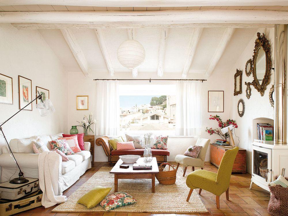 adelaparvu.com despre casa rustica cu pereti si plafoane albe, designer Josep Curanta, Foto MiCasa (1)