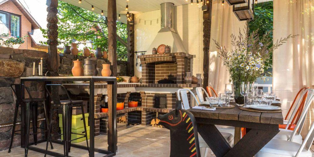 adelaparvu.com despre foisor cu bucatarie de vara amenajate in stil rustic, foisor Rusia, design Ekaterina Zorkaya, Foto Olga Olyushina (1)