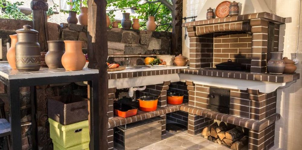 adelaparvu.com despre foisor cu bucatarie de vara amenajate in stil rustic, foisor Rusia, design Ekaterina Zorkaya, Foto Olga Olyushina (3)