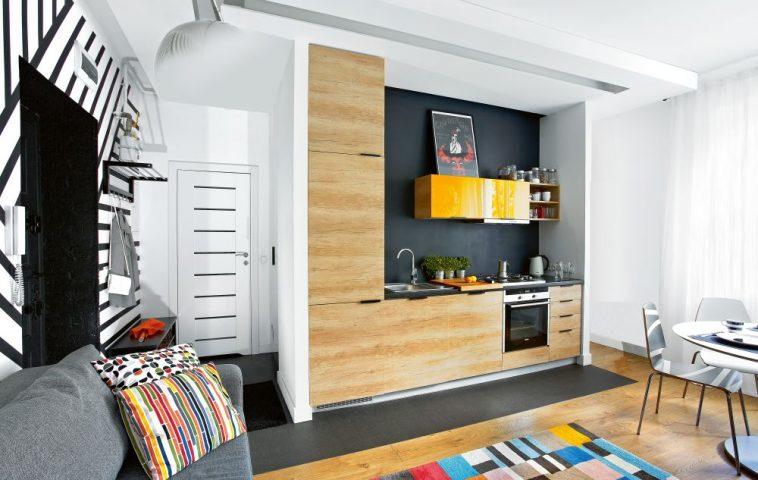 adelaparvu.com despre impartire garsoniera 35 mp in 2 camere, design Purple Work, Foto Michal Mutor (2)