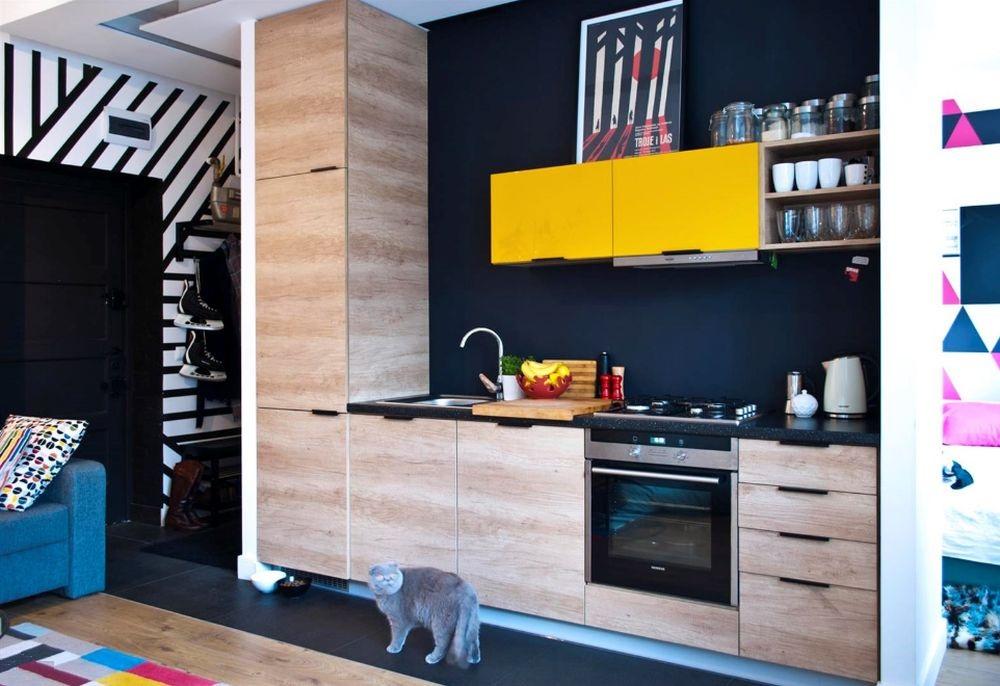 adelaparvu.com despre impartire garsoniera 35 mp in 2 camere, design Purple Work, Foto Michal Mutor (4)