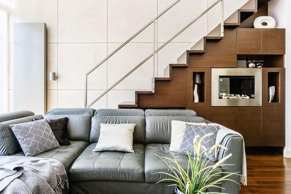 adelaparvu.com despre loft cu canapea la baza scarii, designer Anna Serafin, Foto foto&mohito (12)