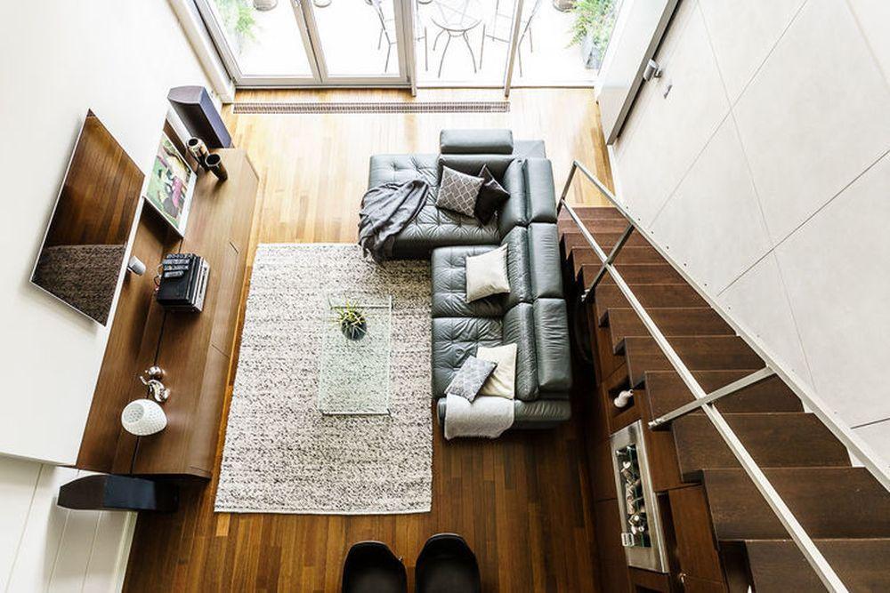 adelaparvu.com despre loft cu canapea la baza scarii, designer Anna Serafin, Foto foto&mohito (7)