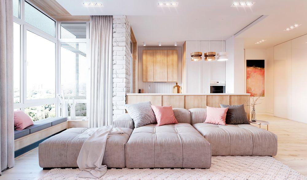 adelaparvu.com despre apartament in nuante delicate, designer Dima Kravtsov (2)