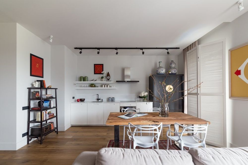 adelaparvu.com despre apatament 2 camere, 70 mp, Rusia, designer Ekaterina Lapina, Foto Katya Zaklivenets (14)