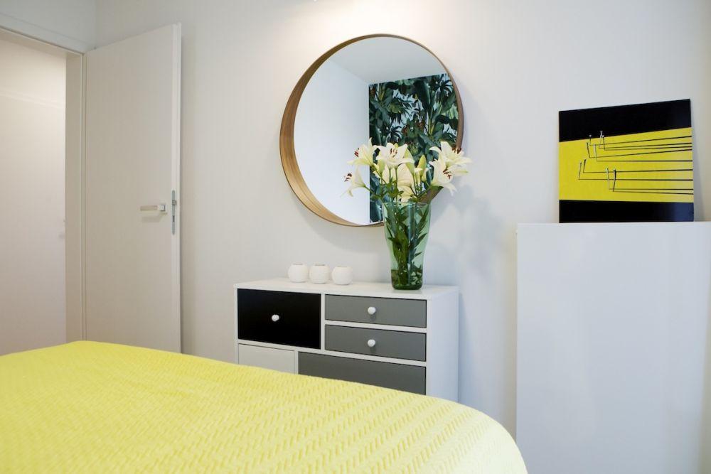 adelaparvu.com despre apartament 60 mp, Polonia, Designer Pawel Liszewski, Foto Tomasz Suszczynski, Dormitor (5)