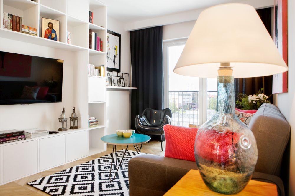 adelaparvu.com despre apartament 60 mp, Polonia, Designer Pawel Liszewski, Foto Tomasz Suszczynski, Living (1)