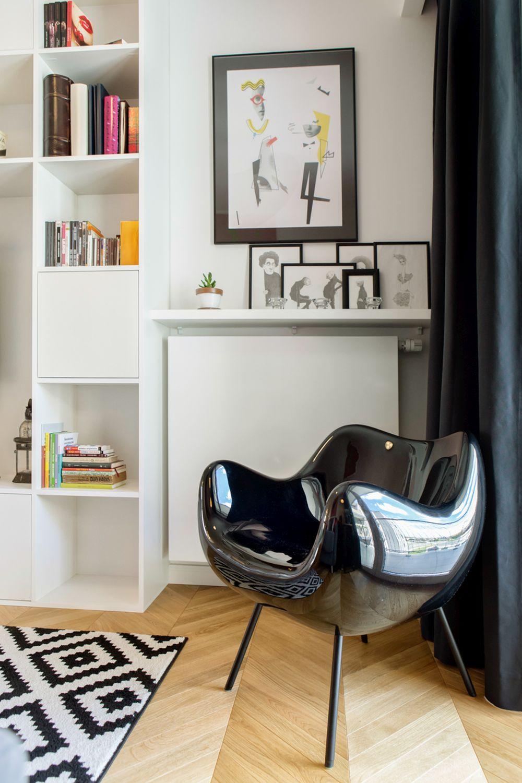 adelaparvu.com despre apartament 60 mp, Polonia, Designer Pawel Liszewski, Foto Tomasz Suszczynski, Living (2)