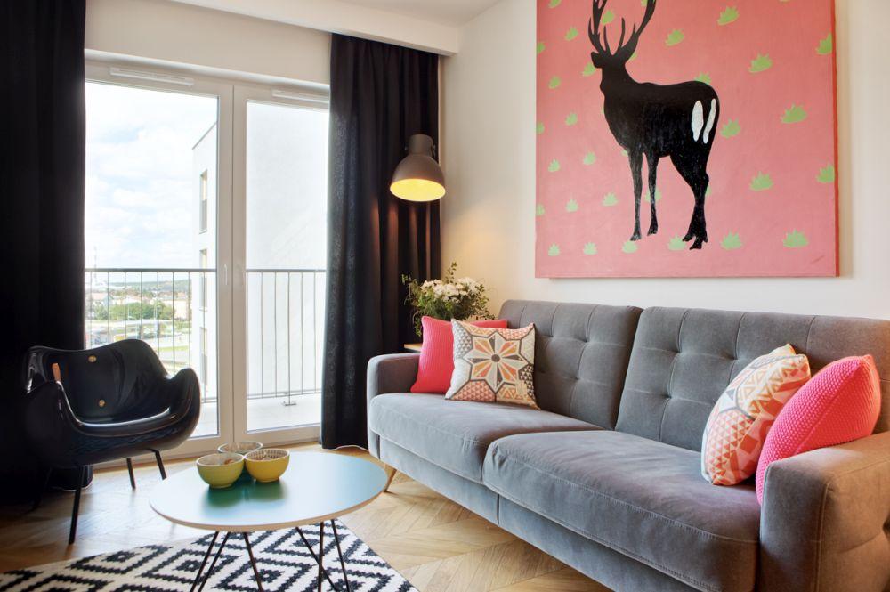 adelaparvu.com despre apartament 60 mp, Polonia, Designer Pawel Liszewski, Foto Tomasz Suszczynski, Living (3)