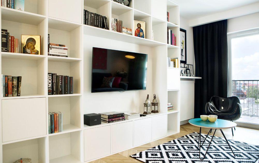 adelaparvu.com despre apartament 60 mp, Polonia, Designer Pawel Liszewski, Foto Tomasz Suszczynski, Living (5)