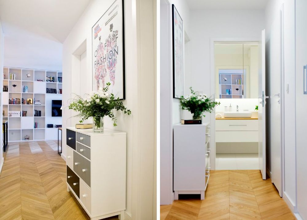 adelaparvu.com despre apartament 60 mp, Polonia, Designer Pawel Liszewski, Foto Tomasz Suszczynski, hol (1)