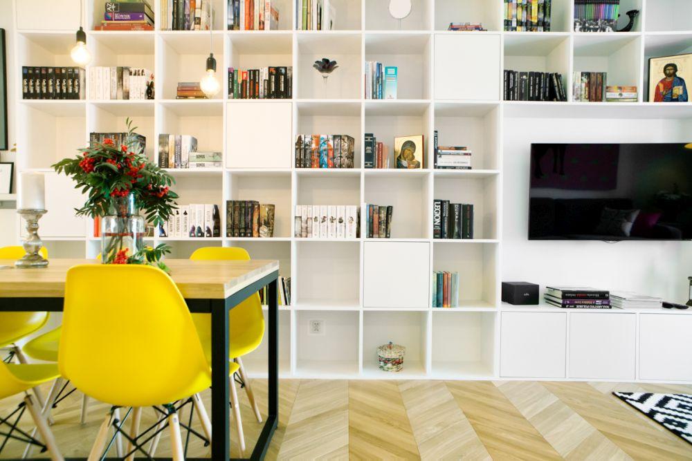 adelaparvu.com despre apartament 60 mp, Polonia, Designer Pawel Liszewski, Foto Tomasz Suszczynski, sufragerie (5)