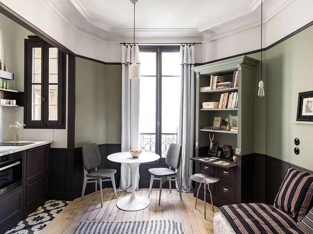 adelaparvu.com despre garsoniera 18 mp, Paris, Designer Marianne Evennou, Foto Stephan Jullaird (2)
