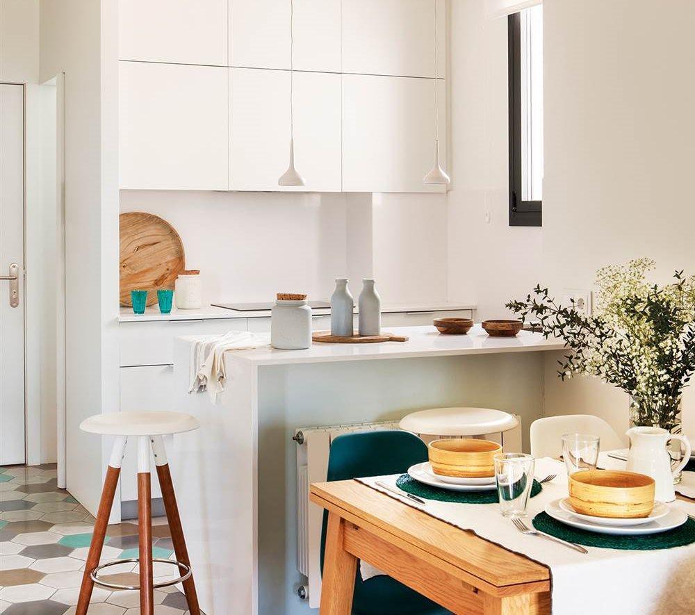 adelaparvu.com despre idei pentru locul de masa in bucatarii mici, Foto ElMueble (11)