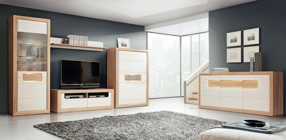 Gama extinsă de mobilă pentru living Tiziano alb. Vezi detalii și preț AICI.