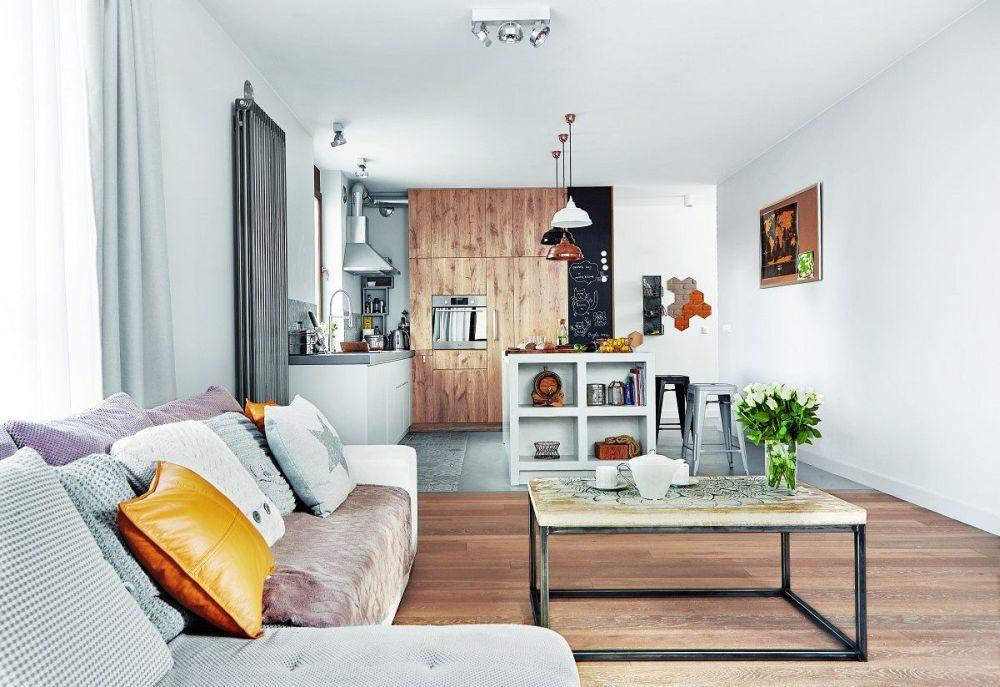 adelaparvu.com despre placari cu lemn in apartament 80 mp, Polonia, arh. Krystyna Regulska, Foto Michal Skorupski (7)