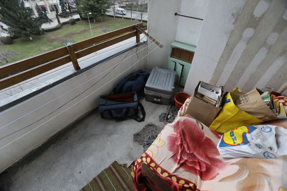 Balconul înainte de renovare.