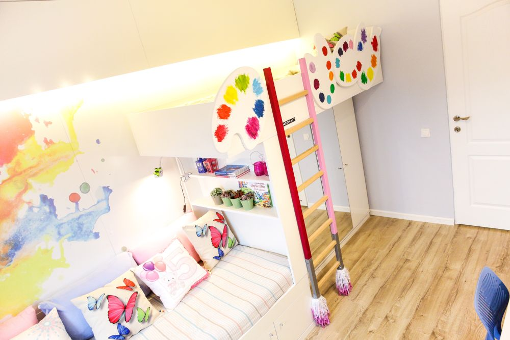adelaparvu.com despre renovarea apartamentului familiei Jitaru din Campina, episodul 7, sezonul 4, Visuri la cheie, camera fetelor (5)