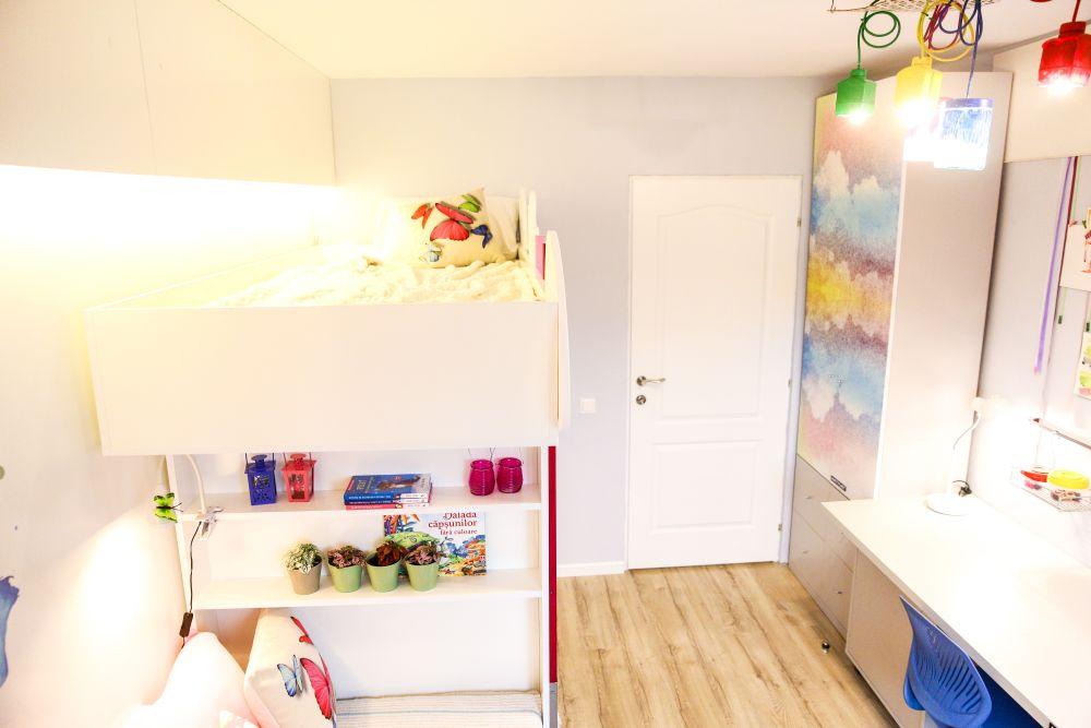 adelaparvu.com despre renovarea apartamentului familiei Jitaru din Campina, episodul 7, sezonul 4, Visuri la cheie, camera fetelor (6)
