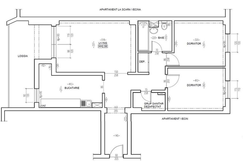 Planul locuinței familiei Jitaru