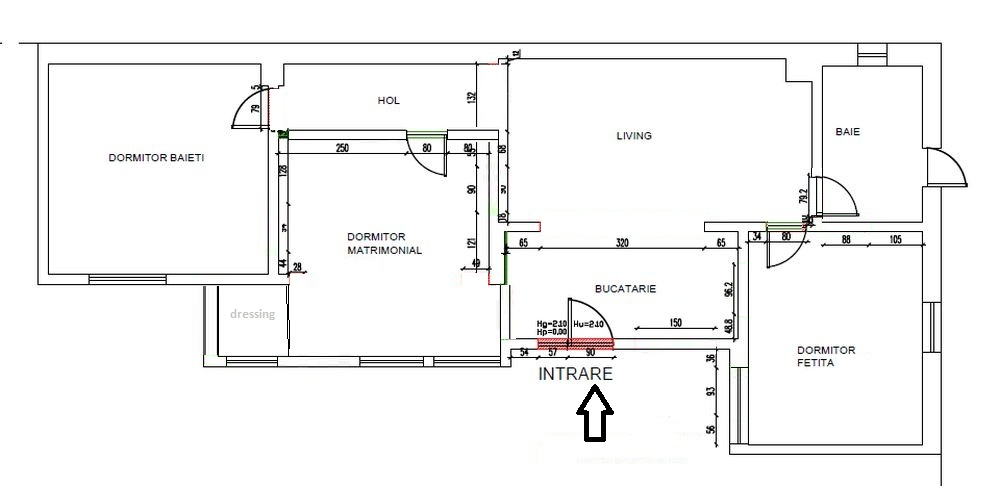 Planul casei după renovarea făcută de către echipa Visuri la cheie.