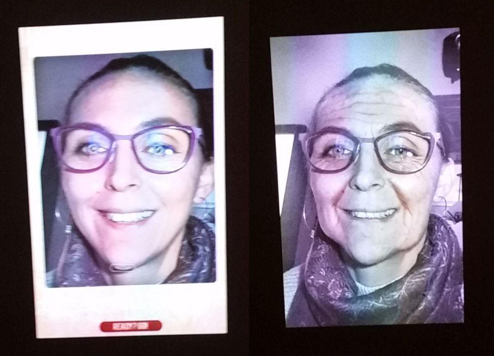 La inalul vizitei prin muzeu există o secțiune dedicată viitorului,unde vei putea viziona un scurt filmuleț despre ce se presupune în privința viitorului urban, dar și cum ai putea arăta tu peste 40-50 de ani. M-am amuzat uitându-mă la imaginea mea peste timp creată cu autorul unui soft. Bunicuța Adela arată simpatic cu ochelii colorați. Părerea mea.