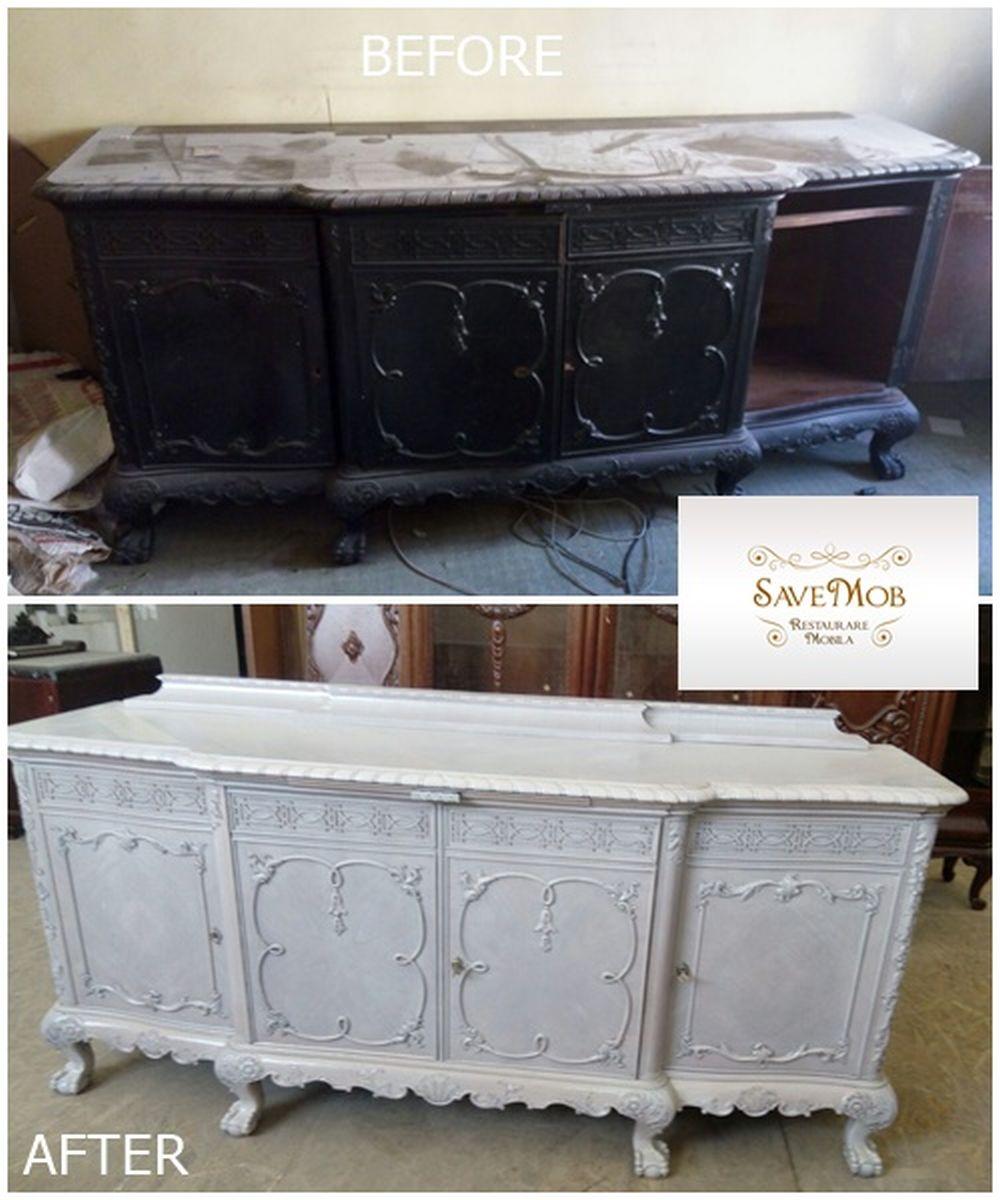 La cererea clienților în atelierul Save Mob nuanța mobilierului poate fi schimbată, structura și detaliile fiind în prealabil curățate, completate ori înlocuite, după caz