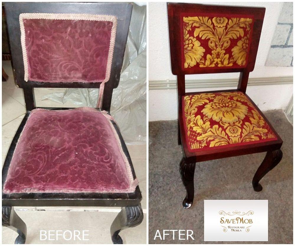 Orice piesă de mobilier cu tapițerie este refăcută nu doar ca aspect, ci și ca structură. Spre exemplu, la scaunele, sofalele vechi se schimbă nu doar tapițeria, ci și straturile suport și arcurile de la interior.