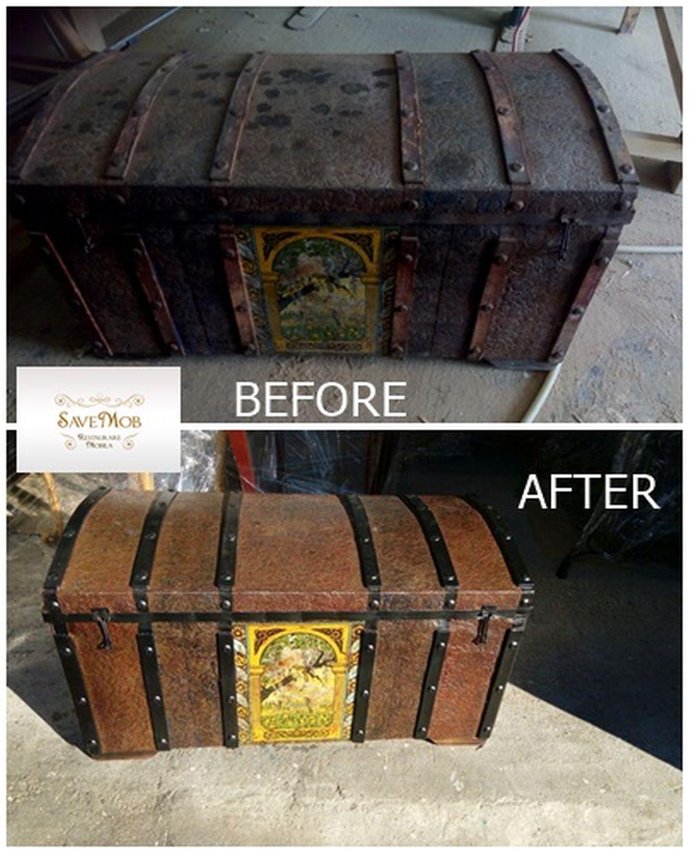 Chiar și obiecte decorative, cum ar fi lăzi de zestre, pot fi restaurate în atelierul Save Mob