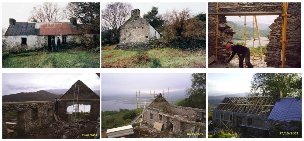 Construcția veche în etapele incipiente de renovare