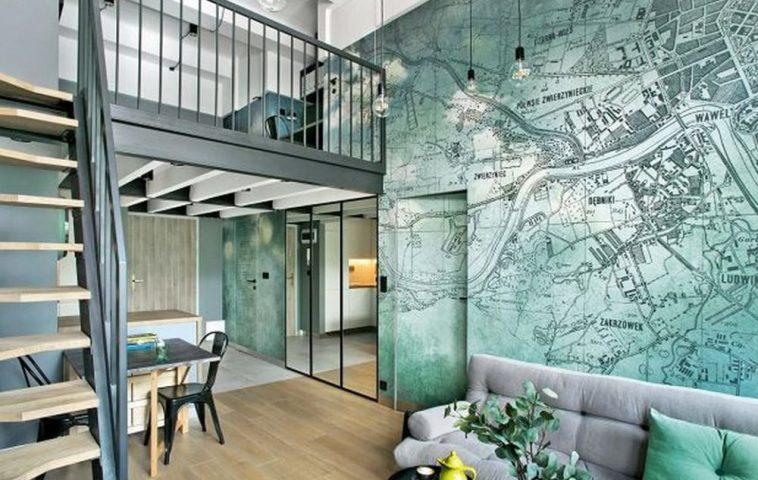 adelaparvu.com despre locuinta 40 mp cu supanta, Loft Lubelska, design Mikolajska Studio, Foto Hanna Dlugosz (4)