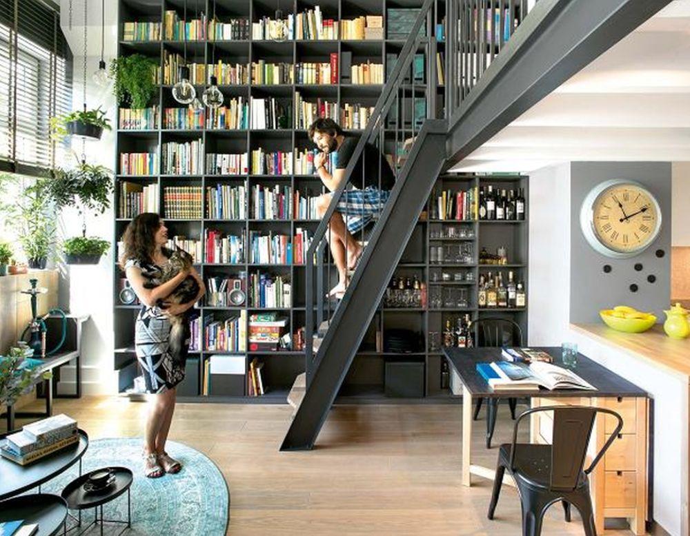 adelaparvu.com despre locuinta 40 mp cu supanta, Loft Lubelska, design Mikolajska Studio, Foto Hanna Dlugosz (7)