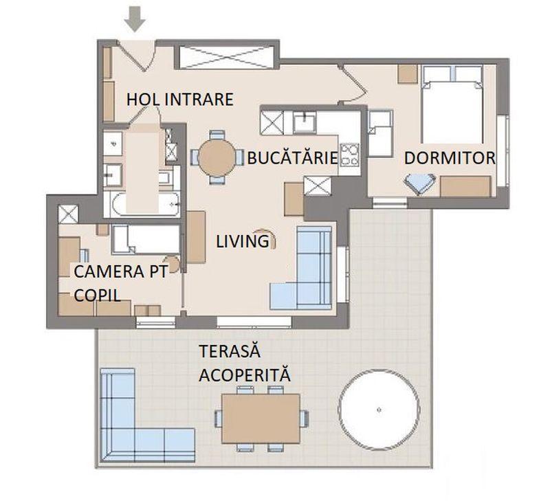 adelaparvu.com despre reamenajare apartament de 57 mp, camera copilului in fosta bucatarie, designer Anna Arcipowska, Foto Michal Mutor (6)