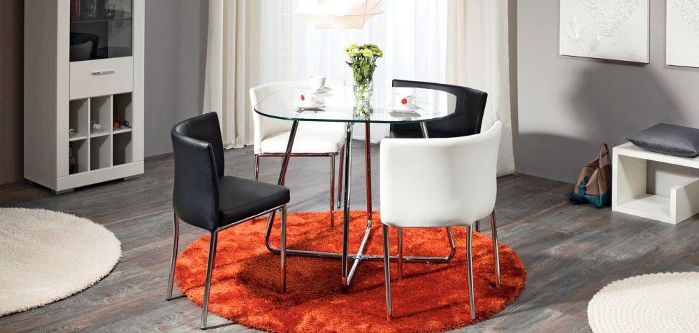 """Set dining """"4 You 2"""" Reducere 18%. Preț întreg 849 lei/ Preț redus 699 lei. Include masa și 4 scaune. Vezi dimensiuni AICI"""