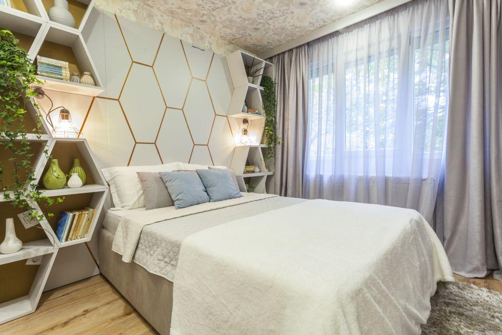 Dormitorul matrimonial după renovarea Visuri la cheie
