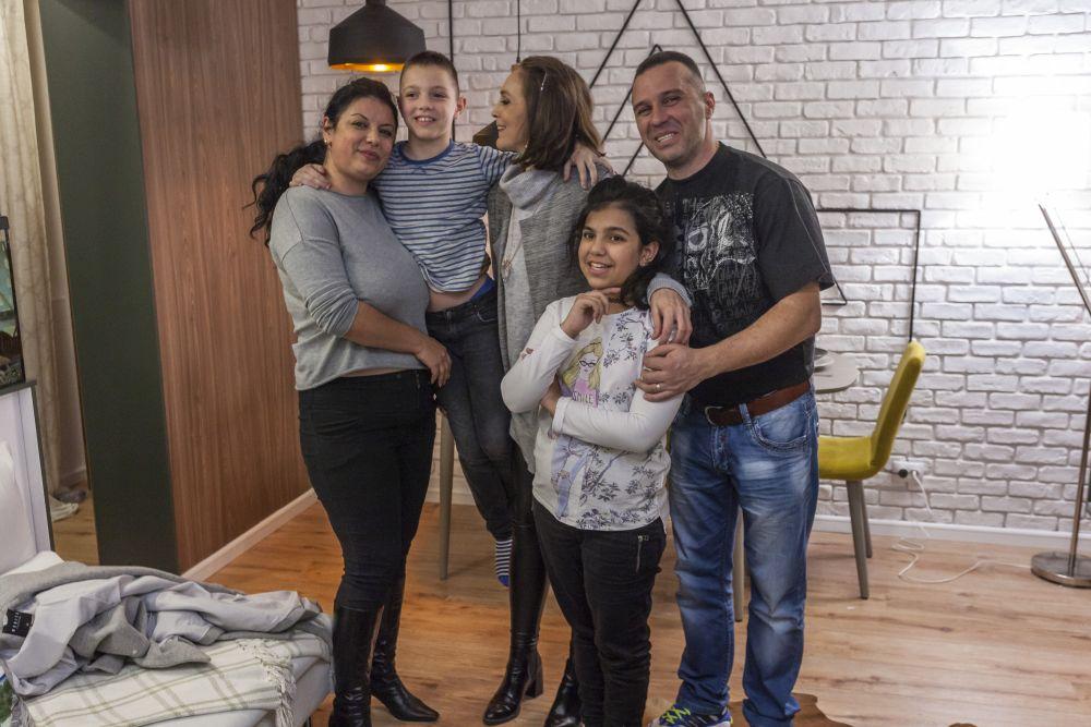 Mi-am făcut și eu o poză ca amintire cu această familie frumoasă.