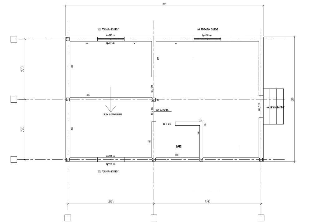 adelaparvu.com despre renovarea casei familie Vinogradof de la Urseiu, Dambovita, plan initial