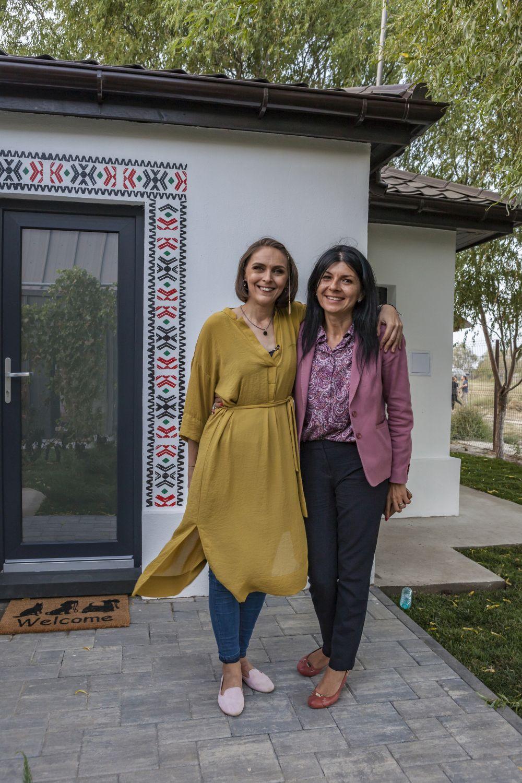 Mi-am făcut o poză cu doamna primar Mirela Drăgoi, cea care ne-a scris la emisiune pentru familia Stănescu.