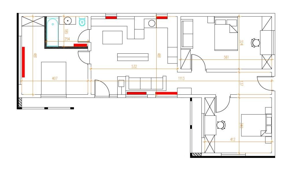 Planul casei DUPĂ renovare