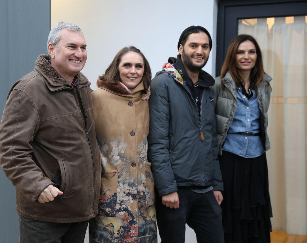 De la stânga la dreapta: ing. Florin Brînzan, designer Adela Pârvu, arh. Omid Ghannadi, arh. Alina Vîlcu