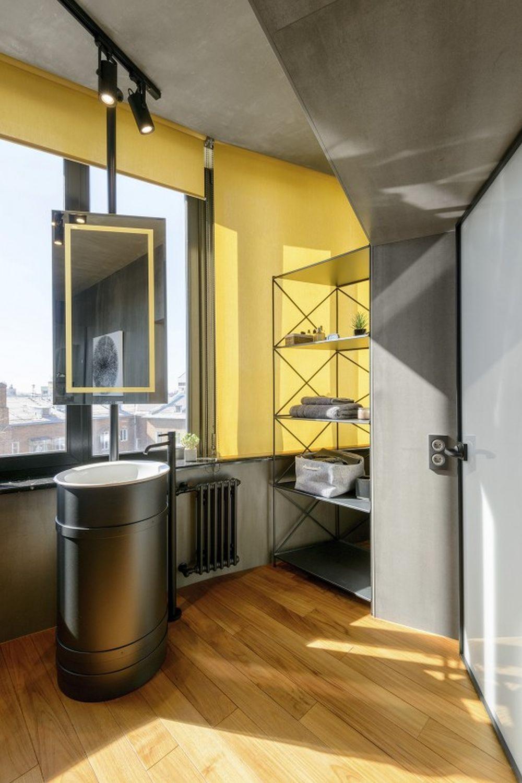 adelaparvu.com despre amenajare apartament loft 70 mp, design interior SHAR (1)