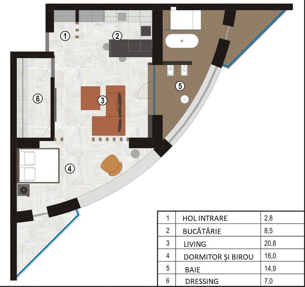 adelaparvu.com despre amenajare apartament loft 70 mp, design interior SHAR (22)