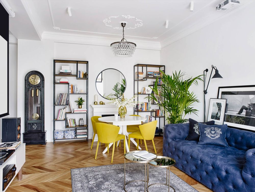 adelaparvu.com despre amenajare in stil francez apartament 72 mp, Moscova, designer Anna Kolpakova, Foto Dina Aleksandrova (12)