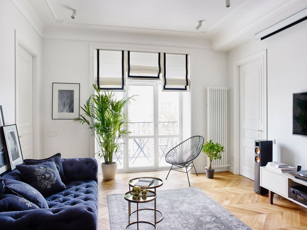 adelaparvu.com despre amenajare in stil francez apartament 72 mp, Moscova, designer Anna Kolpakova, Foto Dina Aleksandrova (14)