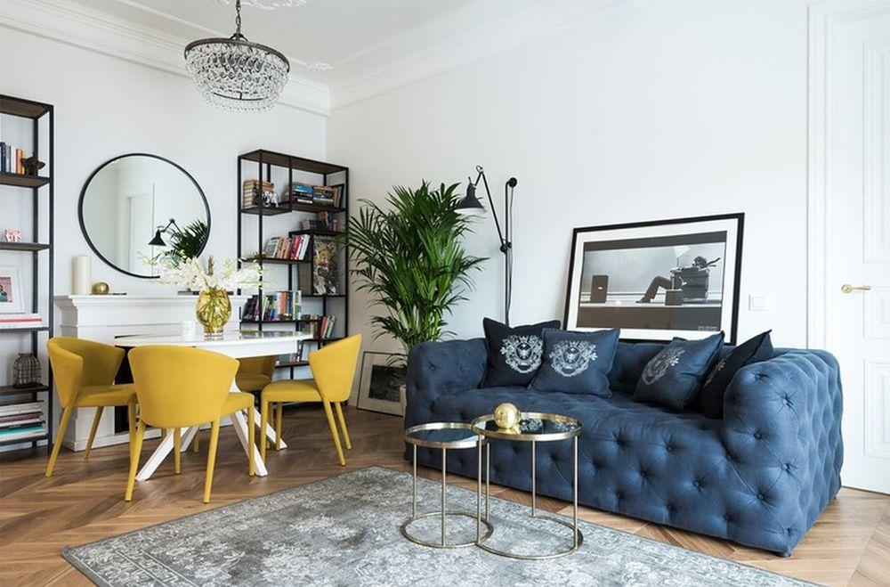 adelaparvu.com despre amenajare in stil francez apartament 72 mp, Moscova, designer Anna Kolpakova, Foto Dina Aleksandrova (3)