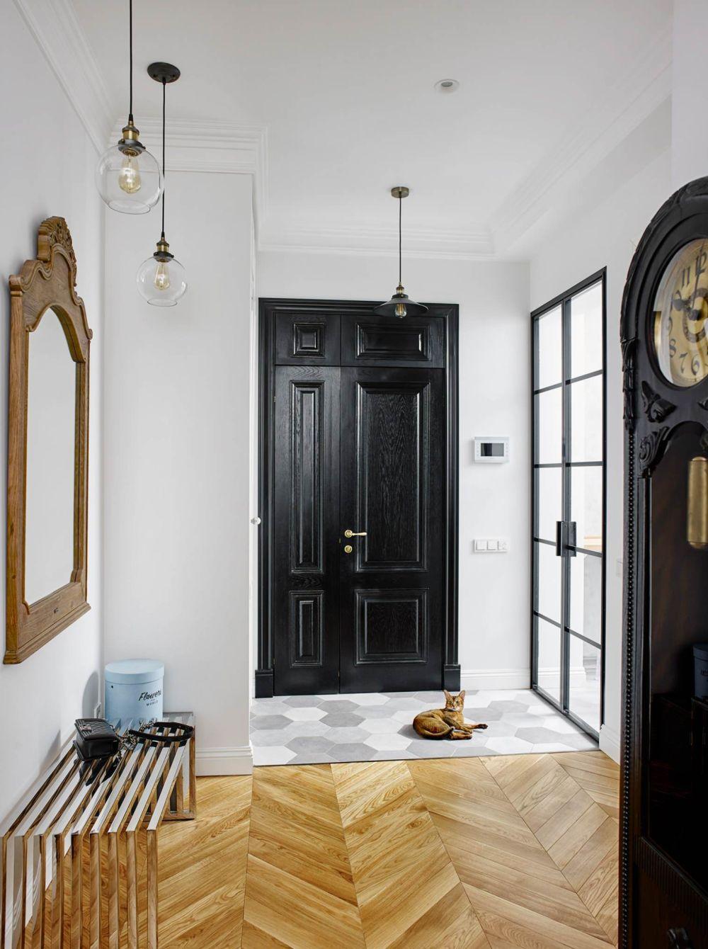 adelaparvu.com despre amenajare in stil francez apartament 72 mp, Moscova, designer Anna Kolpakova, Foto Dina Aleksandrova (6)