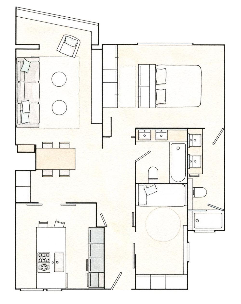 adelaparvu.com despre apartament 75 mp in tonuri deschise, designer Pia Capdevila, Foto Fernando Bedon, ElMueble (8)