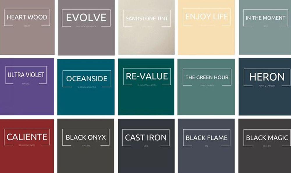 Fiecare companie mare de vopseluri își stabilește o culoare a anului pentru a-și ghida mai ușor consumatorii. Aici ai prezentate câteva mai multe dintre culorile anunțate pentru acest an de către companii mari. Sursa MCA Interiors