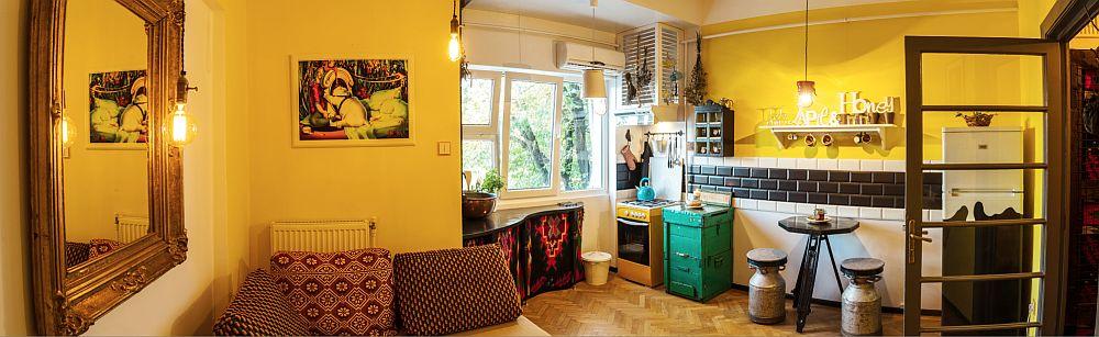 adelaparvu.com despre amenajare creativa garsoniera, design interior artist Raluca Bararu (1)