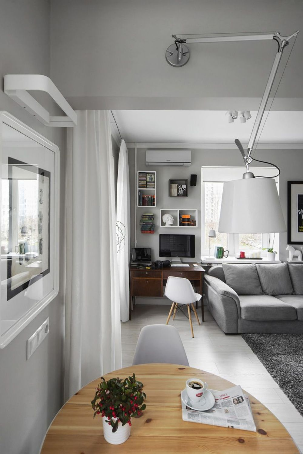 adelaparvu.com despre amenajare garsoniera 30 mp, design interior m2project (15)